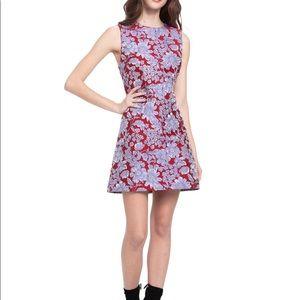 Alice + Olivia Coley Crew Neck Mini Dress- Size 6